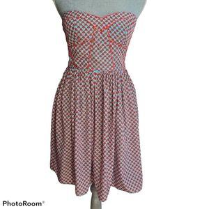 Minuet Strapless Bustier Top Dress Size Medium